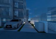 東中野マンションパース2(夜)