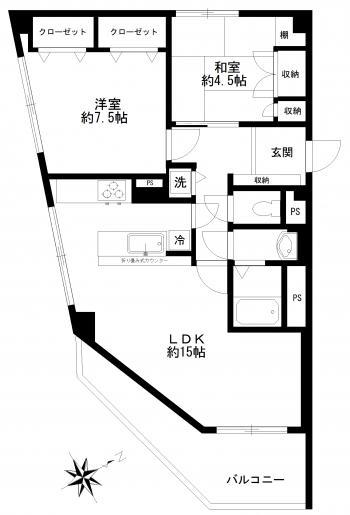 東海第一グリーンパークマンション1103間取り